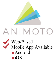 Link - Animoto Logo link to Animoto Tool Page