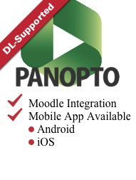 Link - Panopto Logo link to Panopto Tool Page