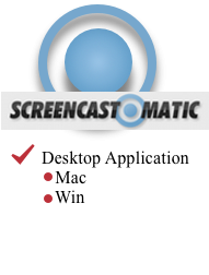Link - Screencastomatic Logo link to Screencastomatic Tool Page