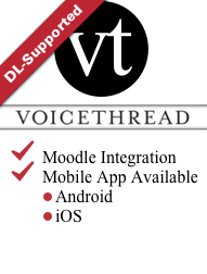 Link - VoiceThread Logo link to VoiceThread Tool Page