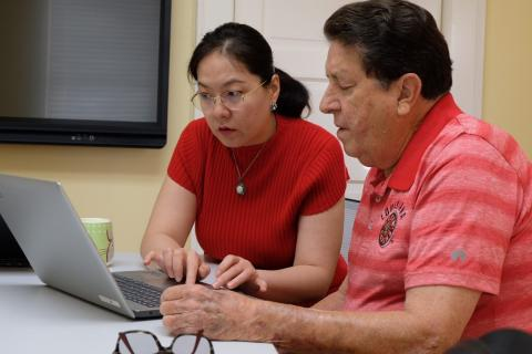 Charles Landry worked with Dr. Diana Wu to design his online business course.