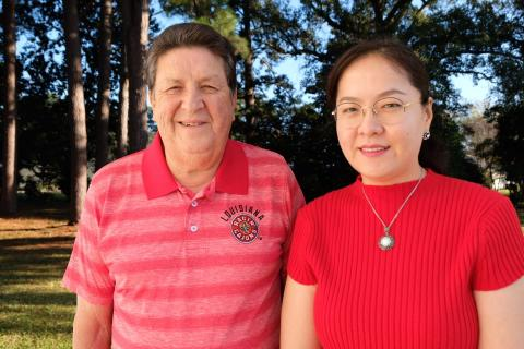 Charles Landry worked with Dr. Diana Wu to complete his online business course for UL Lafayette.