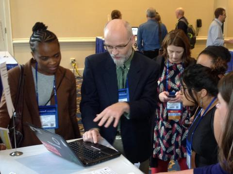 Dr. Jonathan Kulp presents during a table discussion during a past OLC conference.