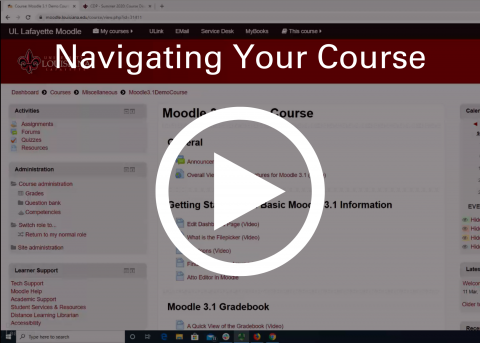 Video thumbnail: Navigating your moodle course